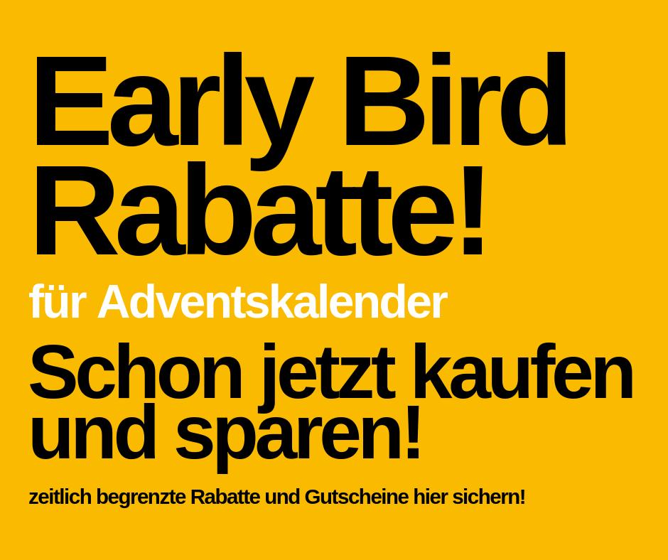 Early Bird Specials - Adventskalender günstiger kaufen