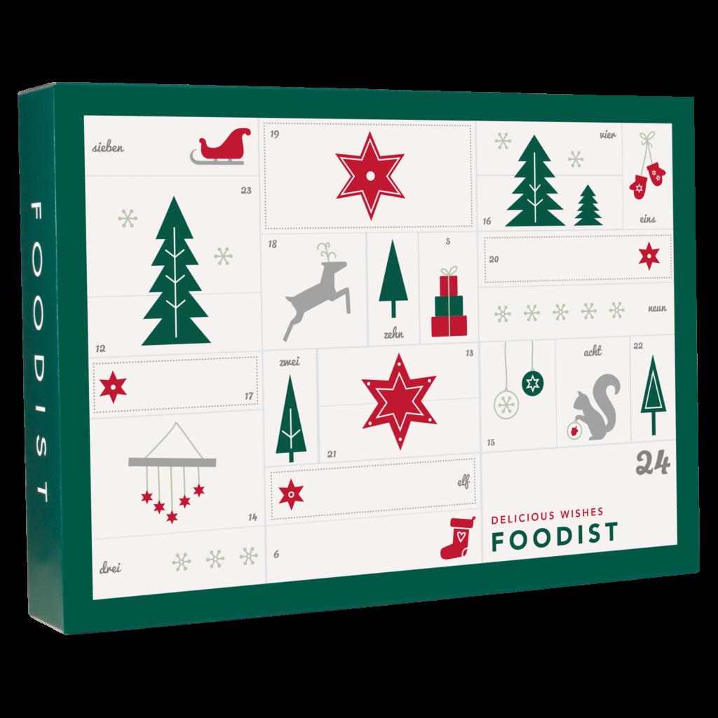 Foodist Gourmet Adventskalender - 24 süße und salzige Leckereien