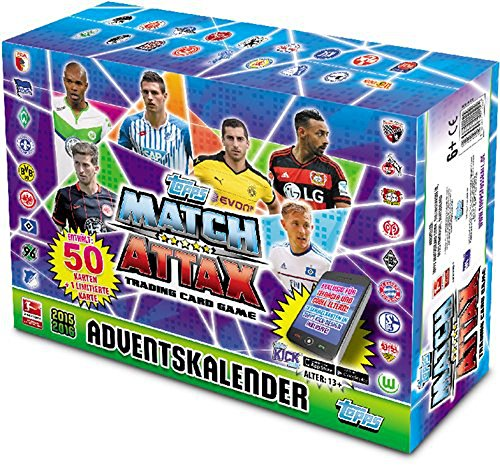 Topps Match Attax Adventskalender Bundesliga Saison 2015-2016