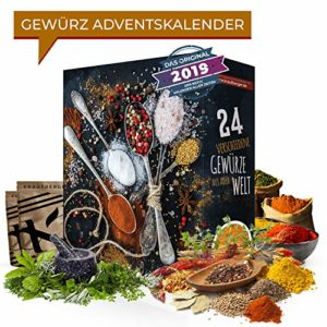 Gewürz-Adventskalender mit 24 edlen & abwechslungsreichen Gewürzspezialitäten