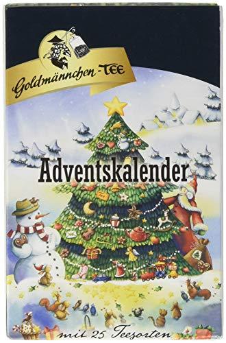 Goldmännchen Tannenbaum Adventskalender mit 24 verschiedenen Teesorten