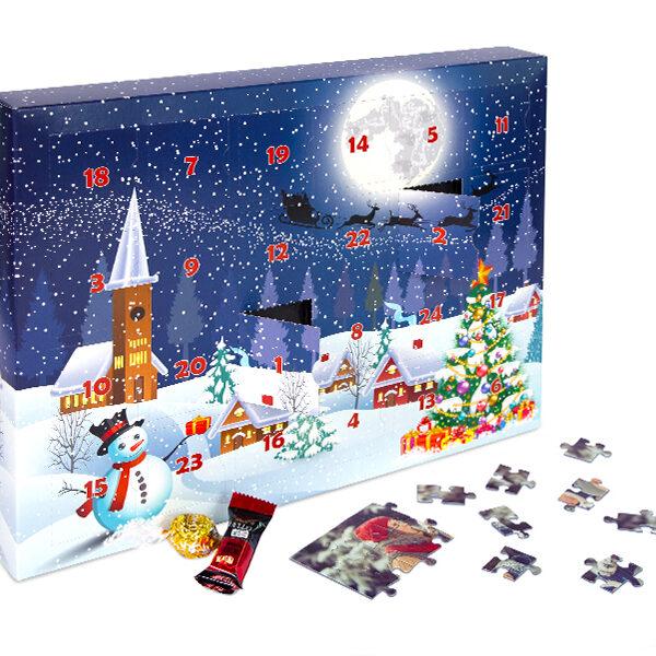 Fotopuzzle - Puzzle-Adventskalender mit 200 Teilen und eigenen Fotos