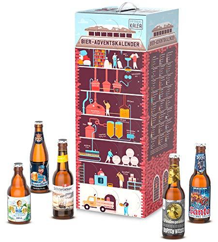 Kalea Bier-Adventskalender 2020 | Edition Superbrauerei | 24 deutsche Bier-Spezialitäten | 24 x 0,33 l Flaschen