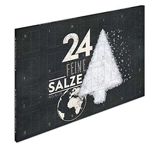 Salzkalender - Adventskalender mit 24 Salzen aus aller Welt