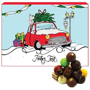 Hallingers Pralinen-Adventskalender - Flamingo (Advents-Karton)