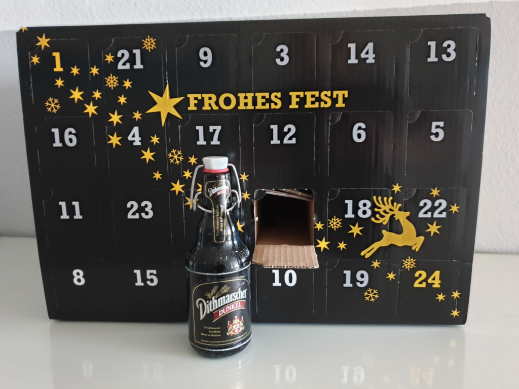BierSelect Adventskalender mit Flasche