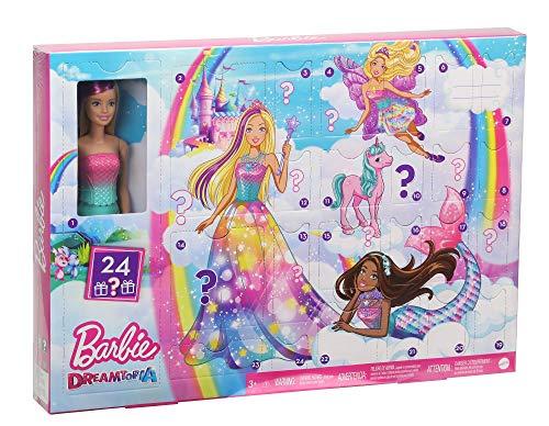 Barbie Dreamtopia Adventskalender 2020 mit Puppe und Zubehör