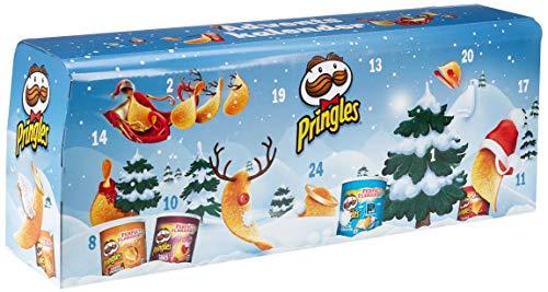 """""""Pringles"""" Chips-Adventskalender Hellblau"""