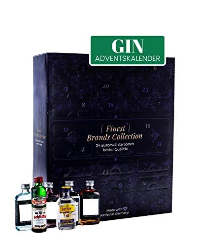 GIN Adventskalender 2020 - WELTREISE durch die Welt des Gins - 23 x 5 cl - 1 x 4 cl
