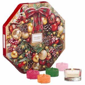 Yankee Candle Adventskalender-Geschenkset 2019 mit 24duftenden Teelichten und 1Teelichthalter aus Glas