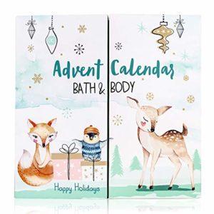 Accentra Adventskalender Happy Holidays 2020 für Mädchen mit 24 Bade-, Körperpflege und Accessoires Produkten