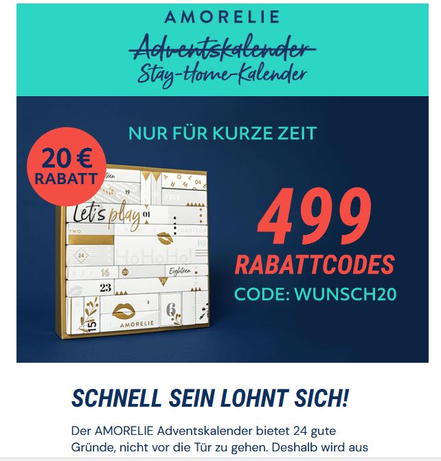 20 € Rabatt auf den Amorelie Adventskalender Luxury