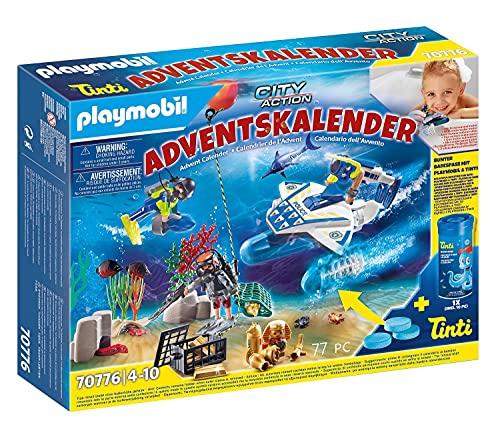 Playmobil Adventskalender 2021 - Badespaß Polizeitaucheinsatz - 70776